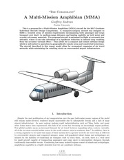 geoffrey andrews aiaa mma design competition paper