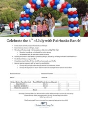 july 4th reservation form
