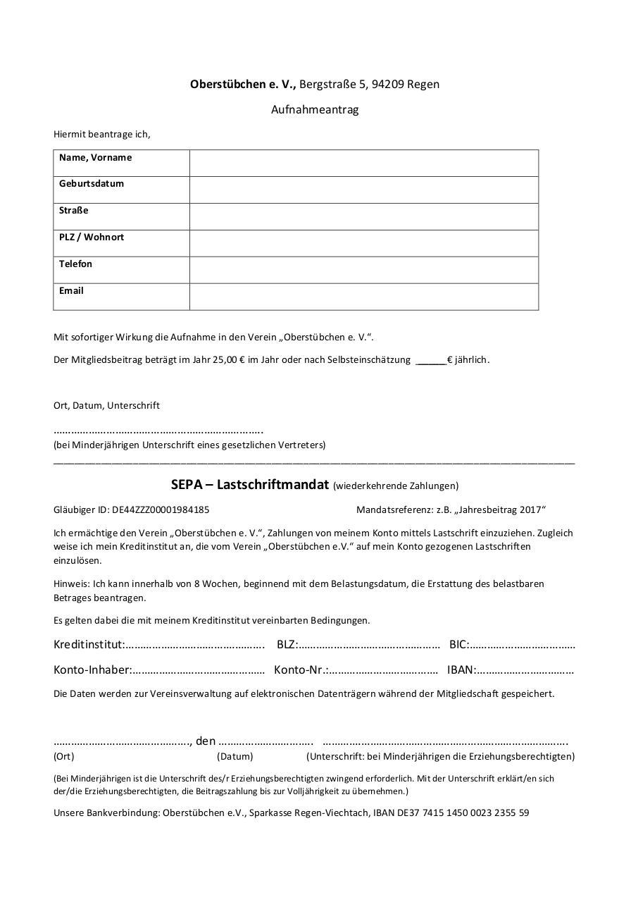 Nice Letter Of Lastschrift Vignette - FORTSETZUNG ARBEITSBLATT ...