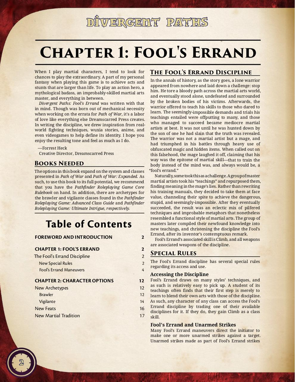 Divergent Paths - Fool's Errand.pdf - page 3/21