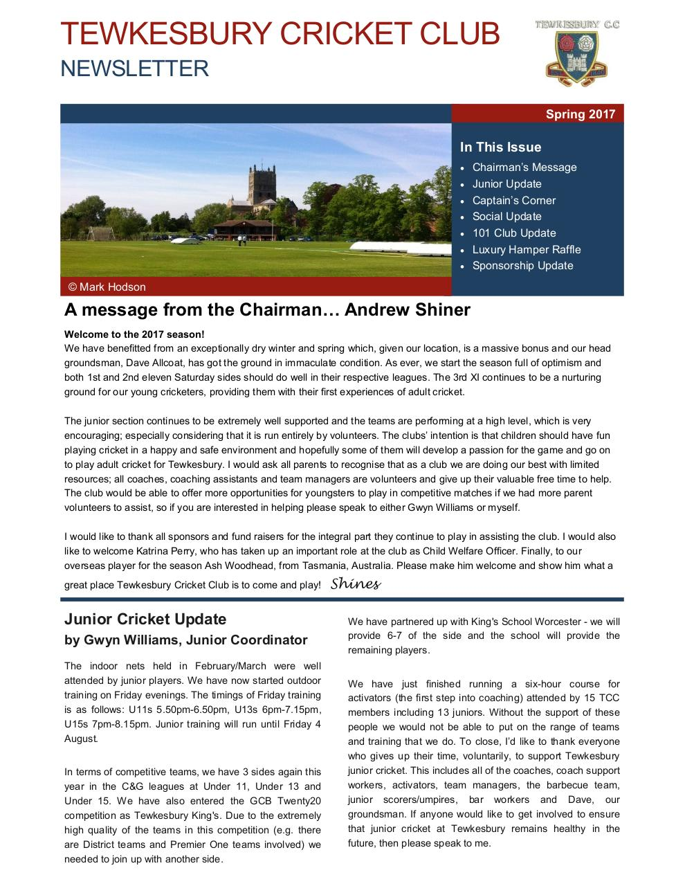 Document preview TCC Newsletter - Spring 2017.pdf - page 1/4