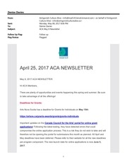 aca may 9 newsletter