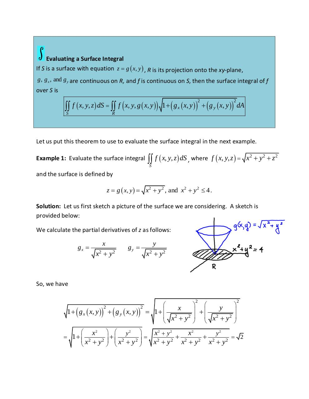 Lesson 10-6 Surface Integrals.pdf - page 2/7