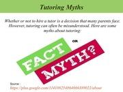 tutoring myths