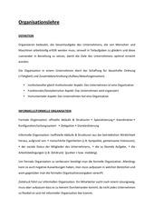 organisationslehre handout 1