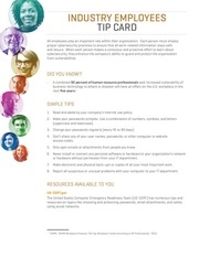 stc industry employee tipcard