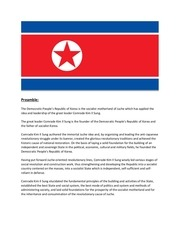 constitution of the dprk