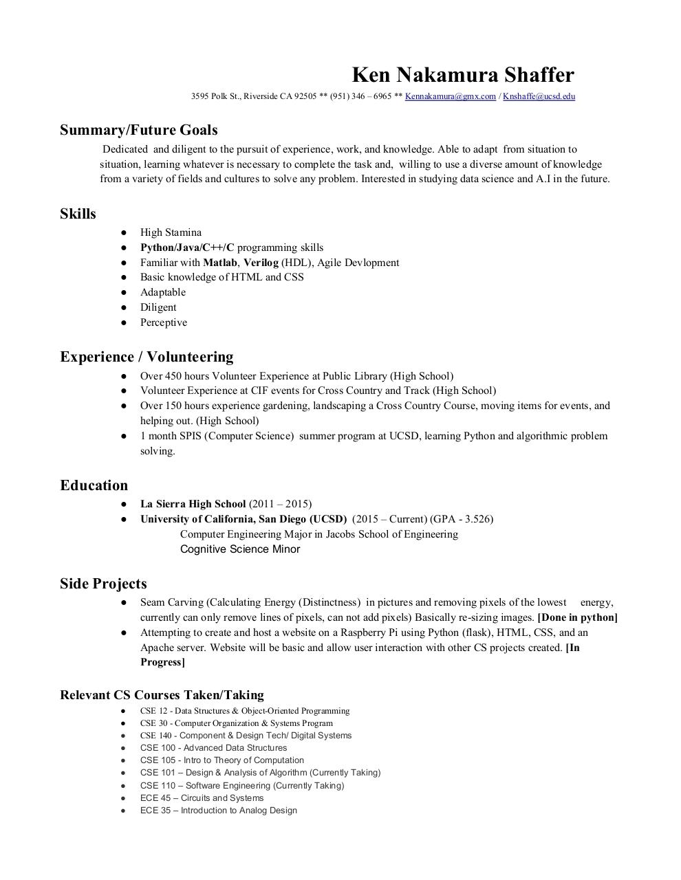 Awesome Basic Energy Resume Picture Collection - simple resume ...