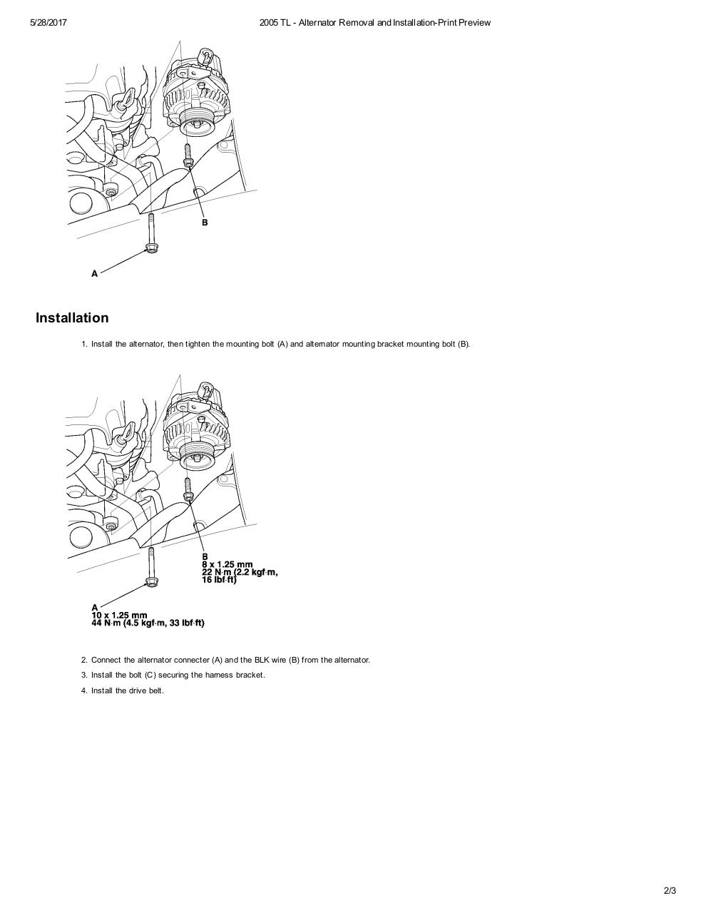 2005 TL - Alternator Removal and Installation.pdf - page 2/3
