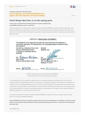 nasa bemer space act agreement 1