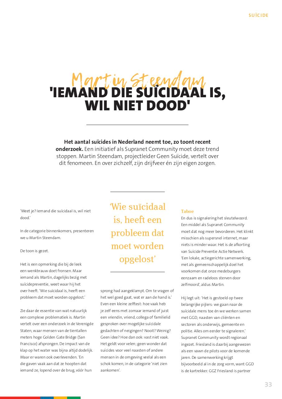 Document preview GZine 2017 - artikel Suicidepreventie GGZ Friesland.pdf - page 2/3