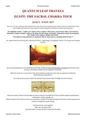 the sacral chakra touroct 2017