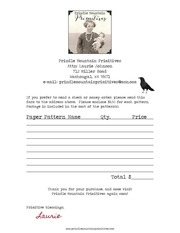 prindle mountain primitives order form