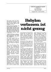 babylon verlassen