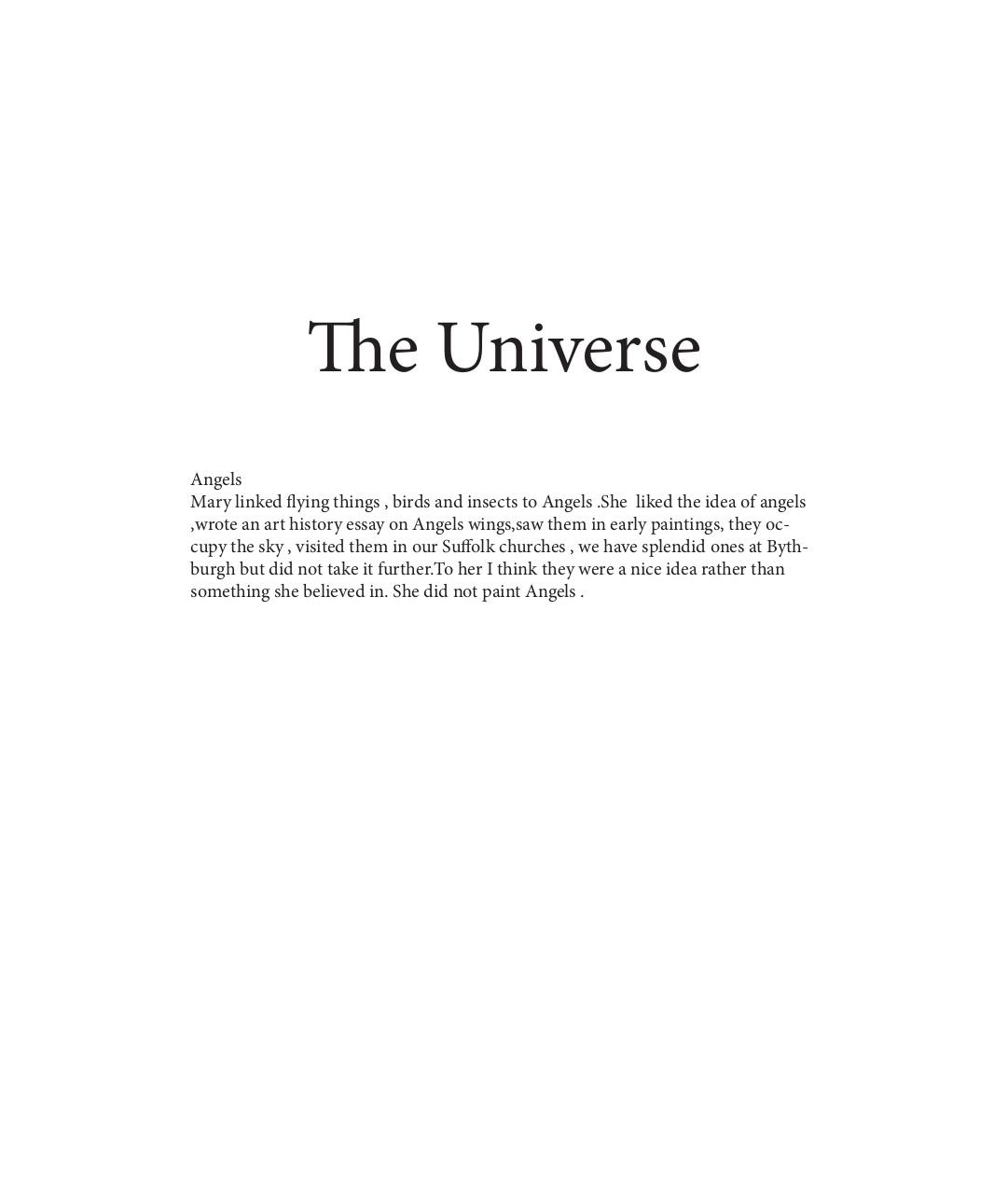 The Universe Draft for Tessa.pdf - page 1/13