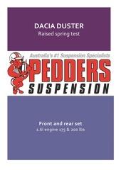 dacia duster raised spring test