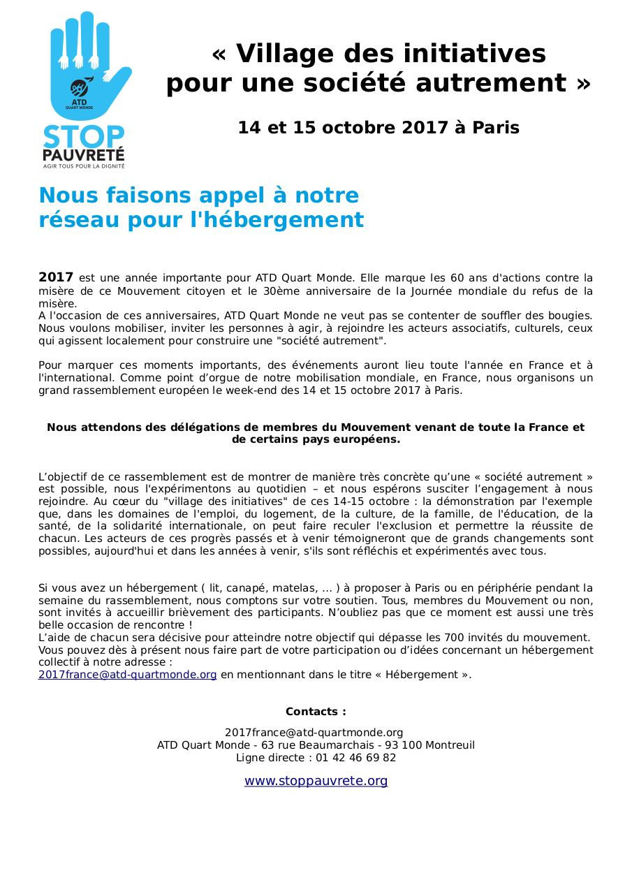 Document preview Demande d'hebergements 14-15 octobre 2017.pdf - page 1/1
