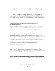 lojaz privacy policy geolocated apps