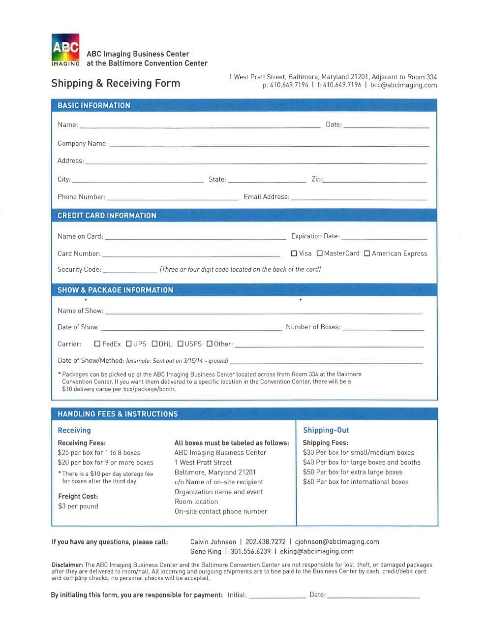 ABC Imaging - Shipment Form (002) .pdf - PDF Archive