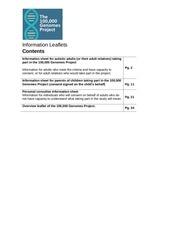 autistica 100k bioresource info pack
