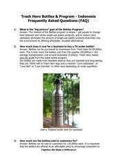 th bottle project faq