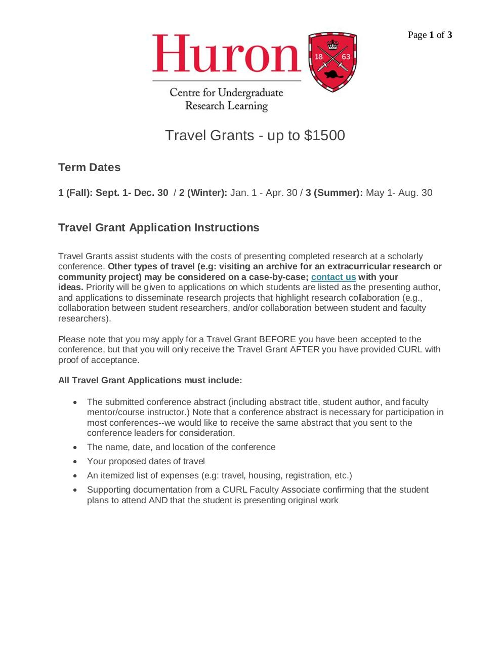 Travel Grants Application Instructions.pdf - page 1/3
