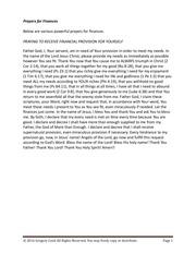 PDF Document prayers for finances