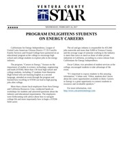 ventura county star careers in energy feb 24 2017