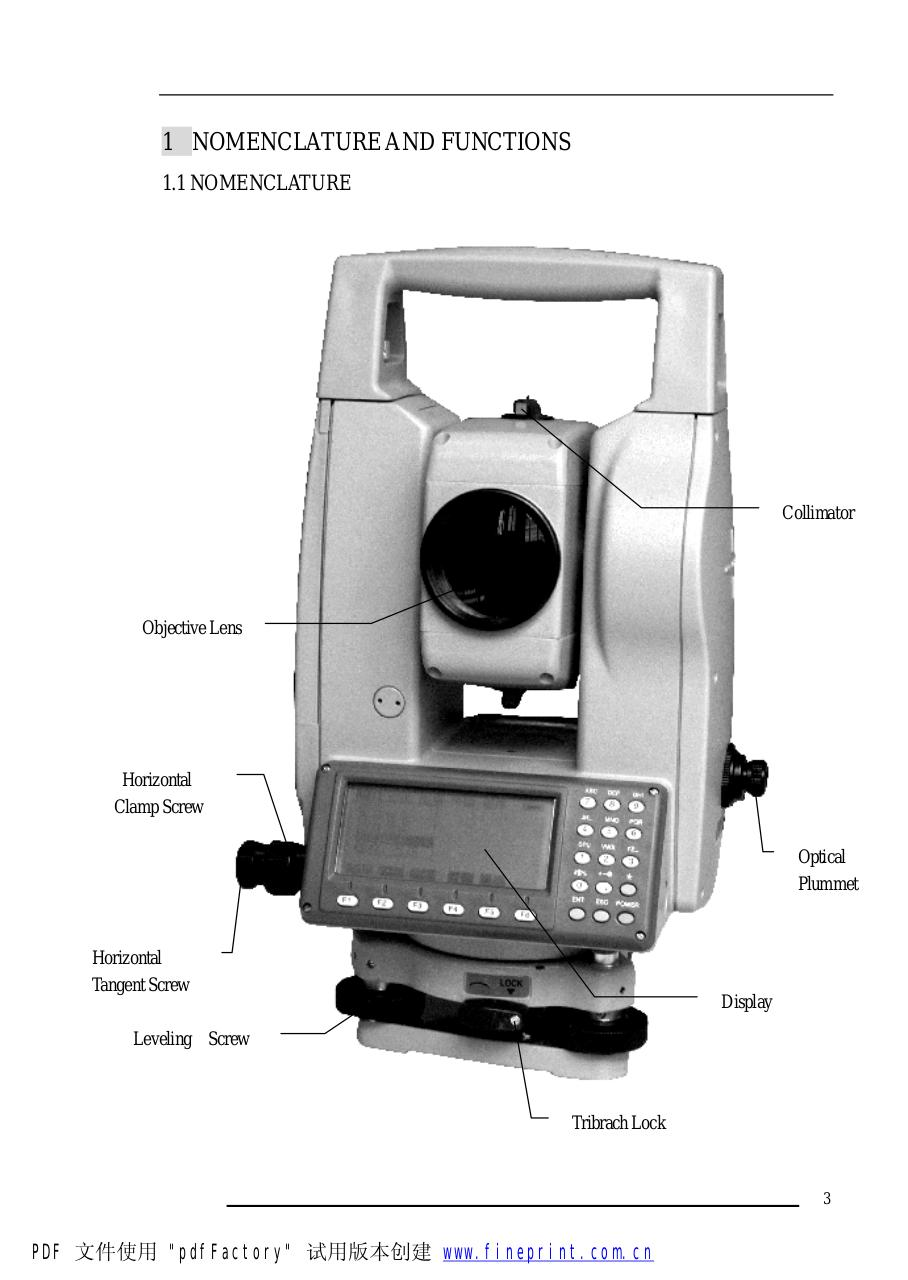 Operation Manual (NTS-660 Series Total Station).pdf - page 3/236
