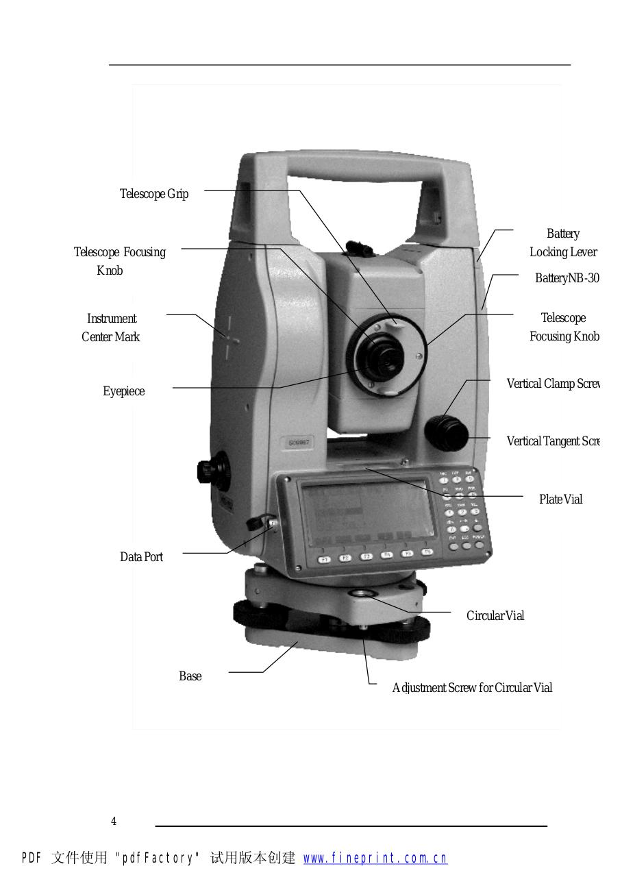 Operation Manual (NTS-660 Series Total Station).pdf - page 4/236