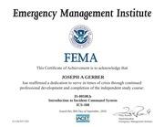 fema is 00100b certification