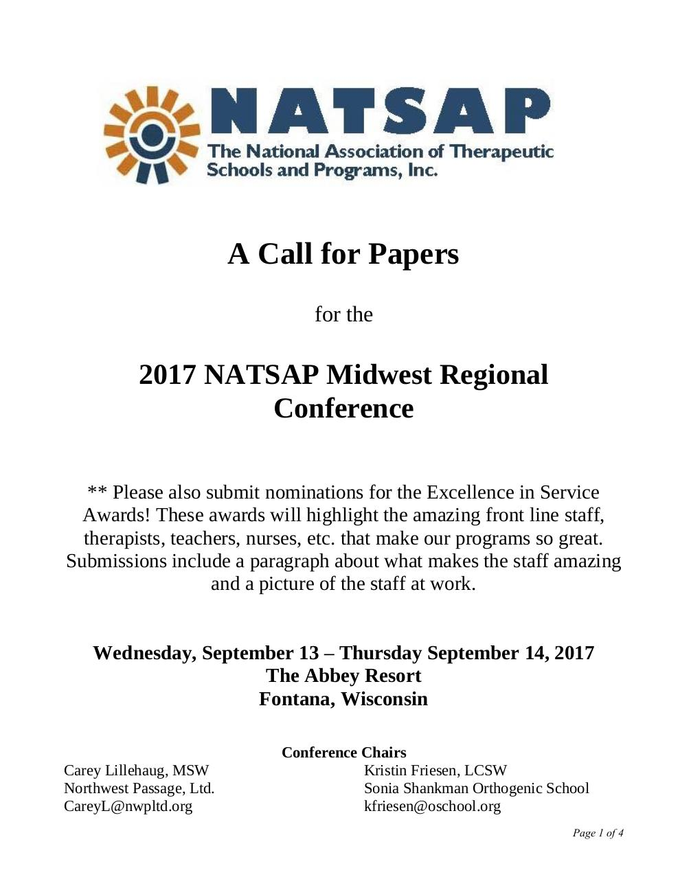 2017 Midwest Regional Conf CFP.pdf - page 1/4