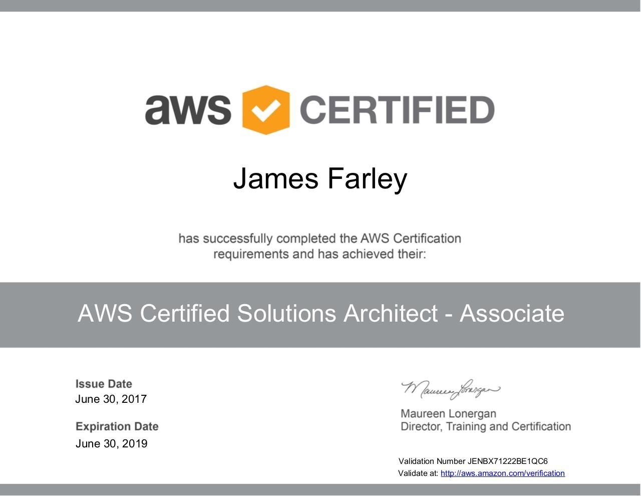 how to download aws exam certificate