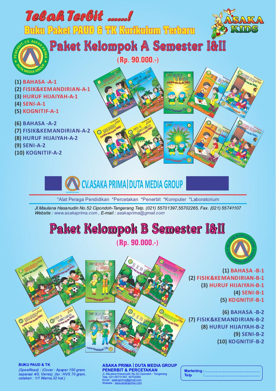 Document preview Paket Buku PAUD 2017 Kurikulum terbaru.pdf - page 1/1
