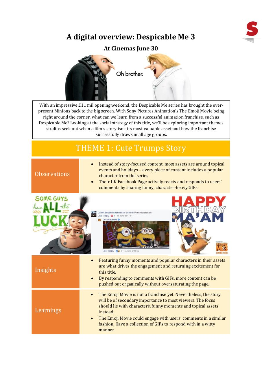 Document preview Digital Overview - Despicable Me 3.pdf - page 1/3