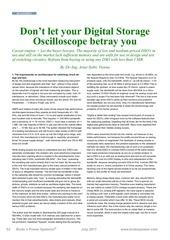 fachartikel analog versus digitalscopes