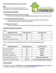 summertime safety and security los info sheet