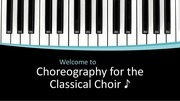 choreography for the classical choir pdf