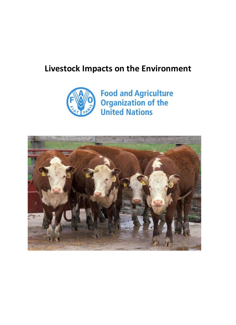 Document preview Spotlight_ Livestock impacts on the environment.pdf - page 1/4