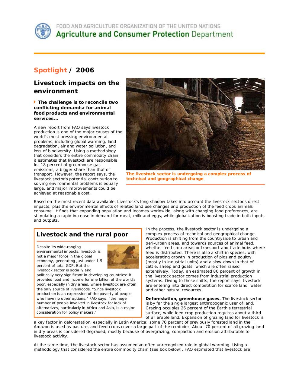 Document preview Spotlight_ Livestock impacts on the environment.pdf - page 2/4