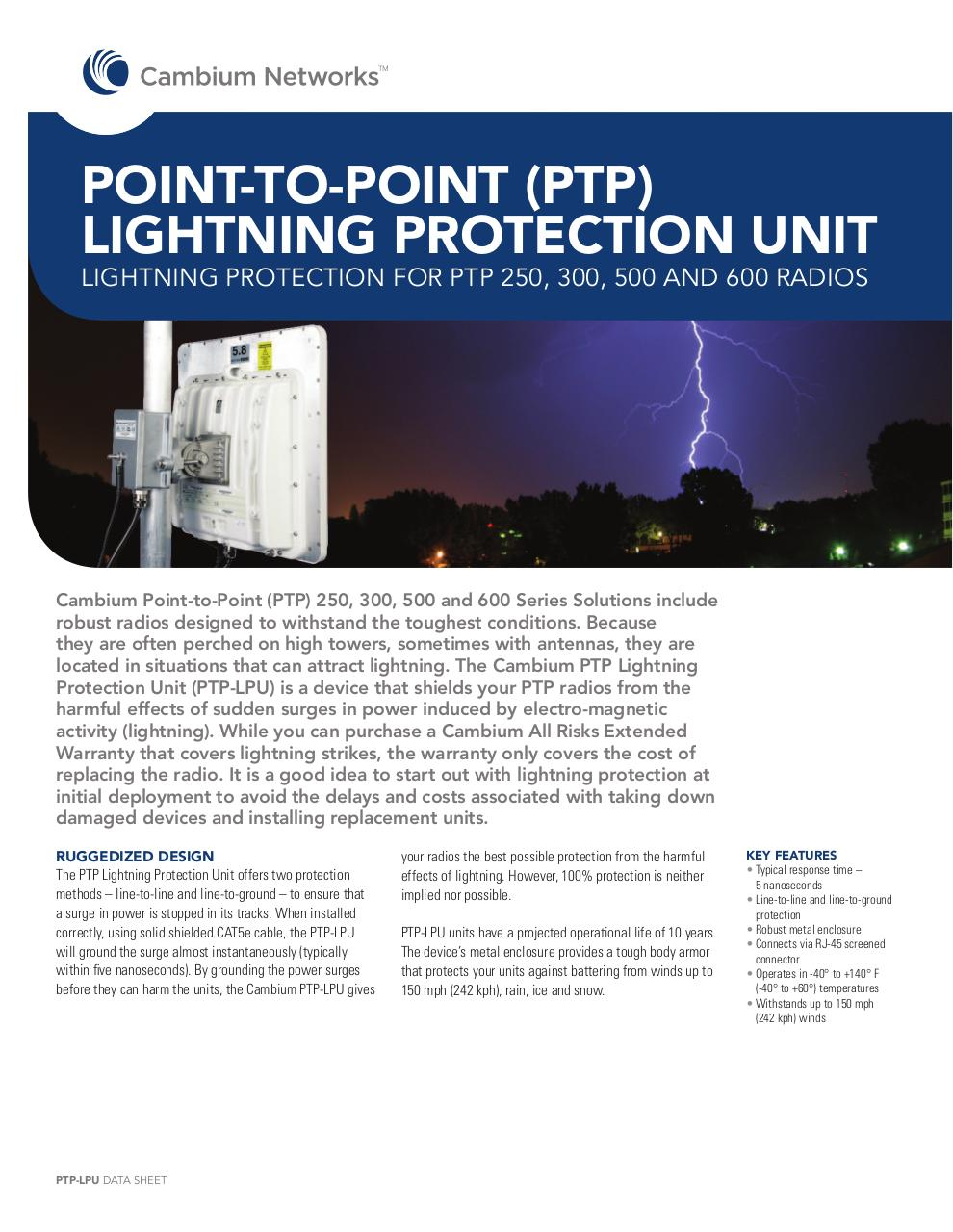 Document preview Cambium_PTP-LPU_DS-050312.pdf - page 1/2