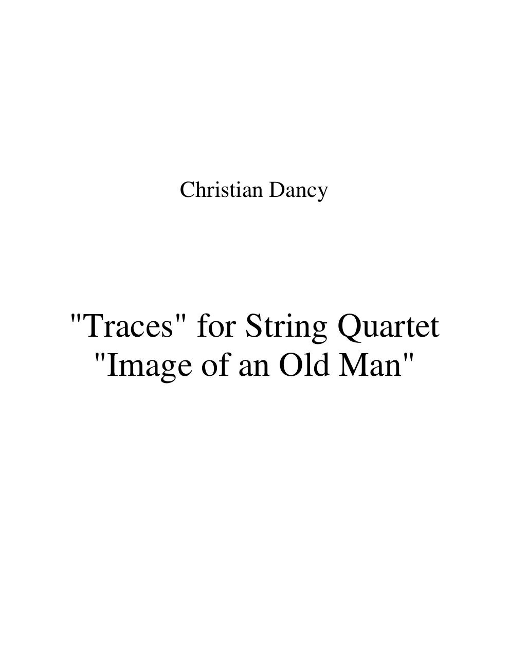 Traces for String Quartet - Score.pdf - page 1/25