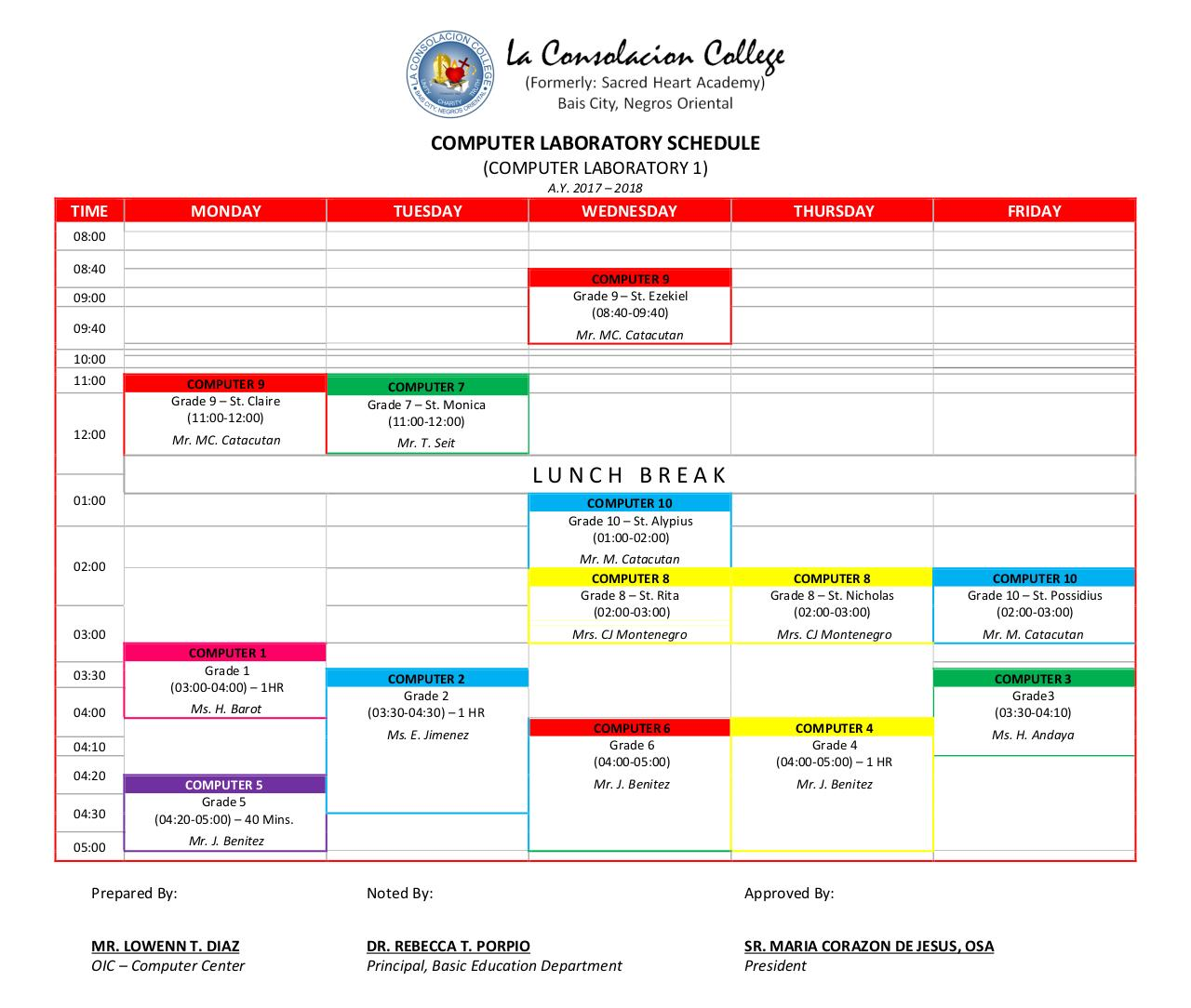 COMPUTER LABORATORY SCHEDULE (AY 2017-2018).pdf - page 1/2