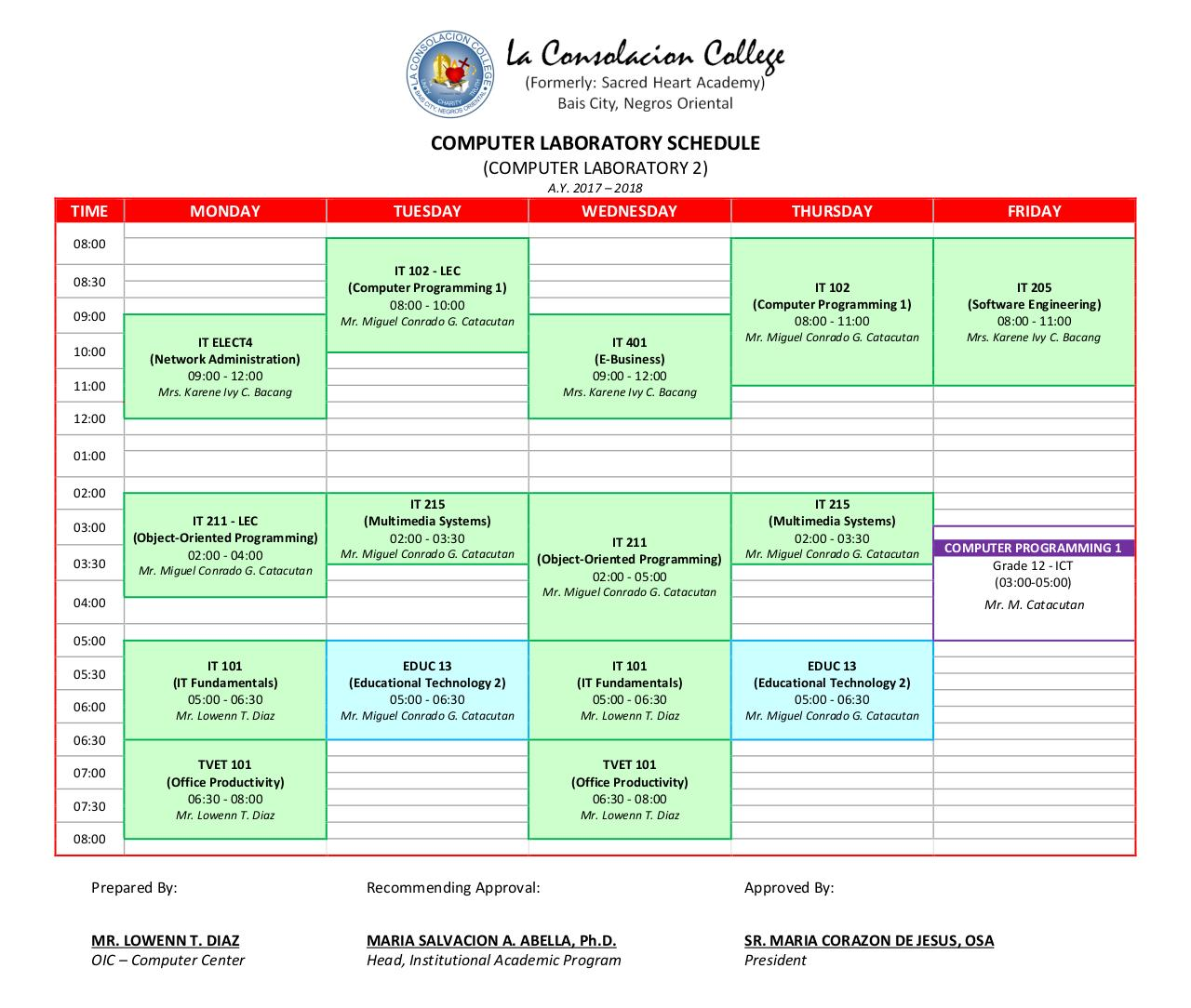 COMPUTER LABORATORY SCHEDULE (AY 2017-2018).pdf - page 2/2