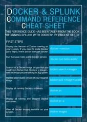splunkuda docker for splunk cheat sheet