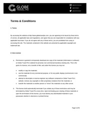 PDF Document terms conditions and privacy policy globe travel pix
