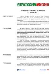 consiglio comunale 13 luglio 2017