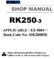 kobelco crane rk250 3 shop manual