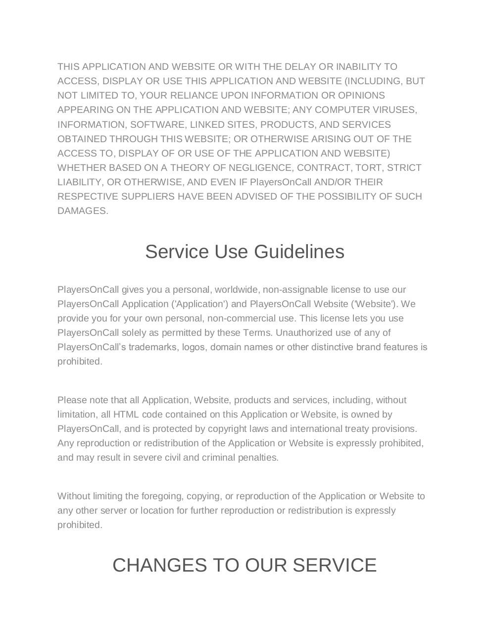 Terms of Use-Privacy policy - PlayersOnCall.pdf - page 3/13