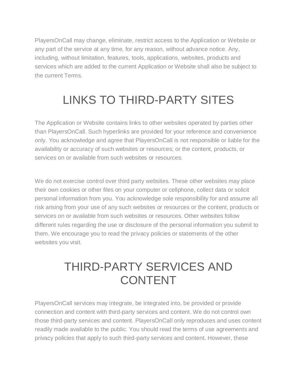 Terms of Use-Privacy policy - PlayersOnCall.pdf - page 4/13